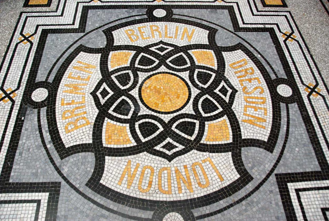 Bodenmosaik im Hotel de Rome