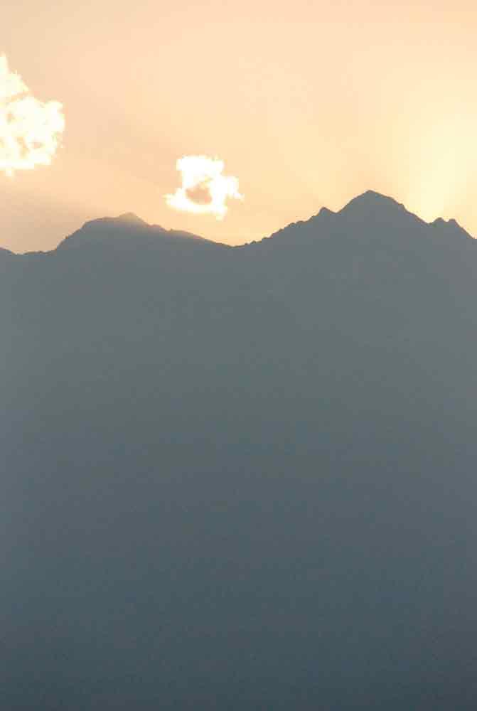 Berge abends in Südtirol