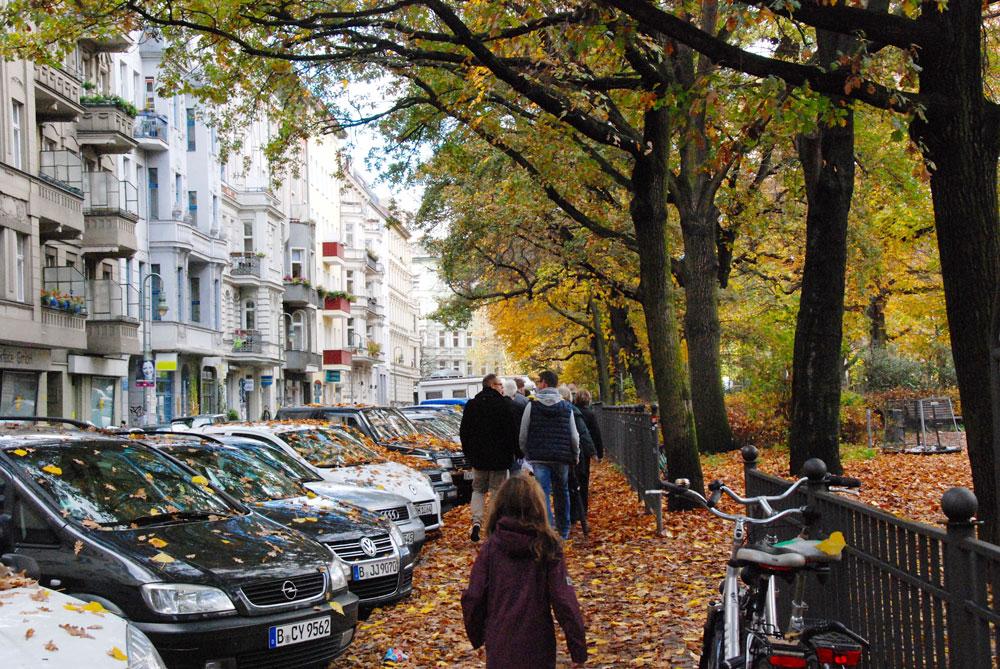 Straße im Gräfekiez Berlin Kreuzberg