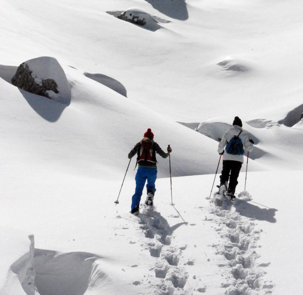 schneeschuhwandern am Rofan zu zweit