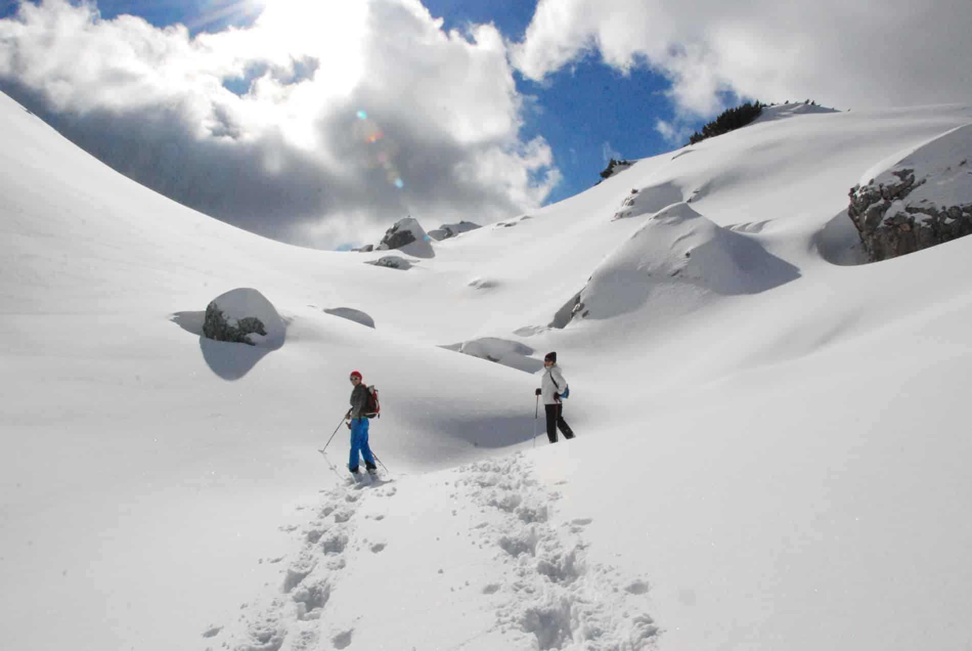 Schneeschuhwanderung im Rofan Tirol