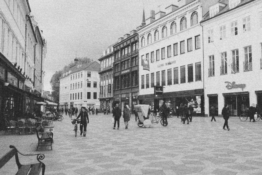 Spaziergang in Kopenhagen Fussgängerzone