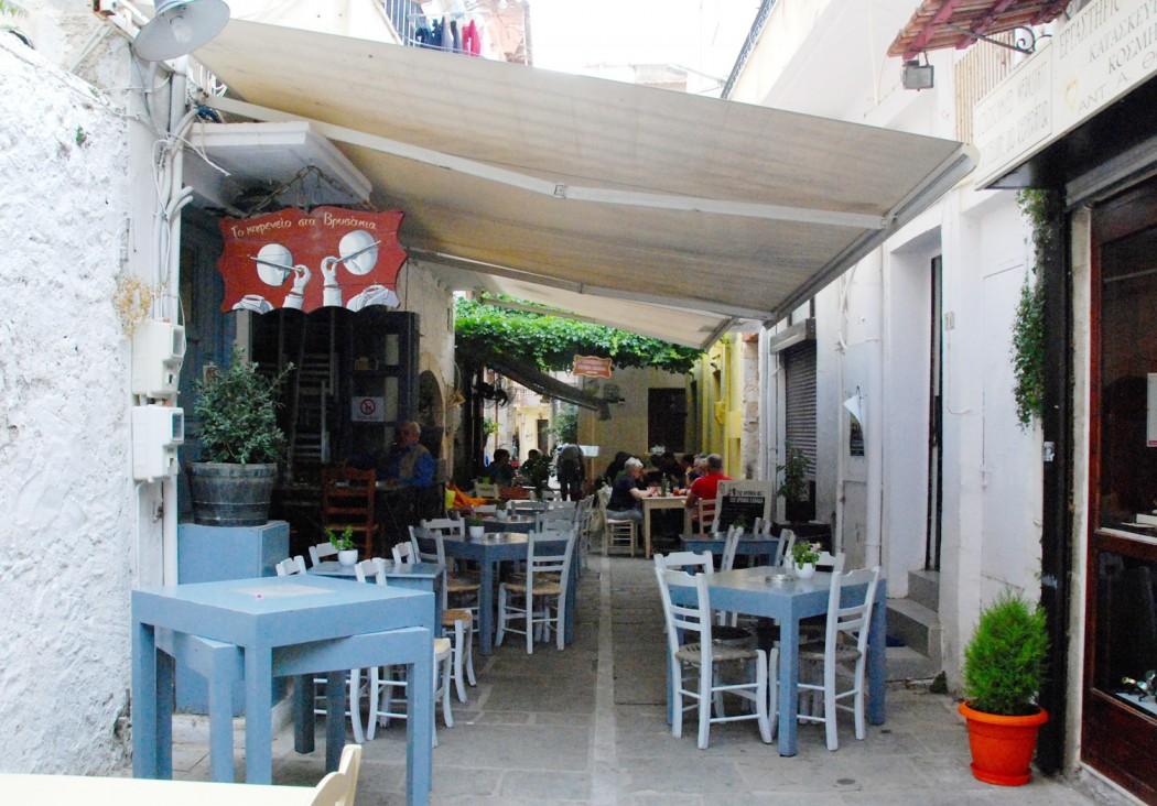 Mit dem Auto unterwegs auf Kreta Restaurant in Rethymno