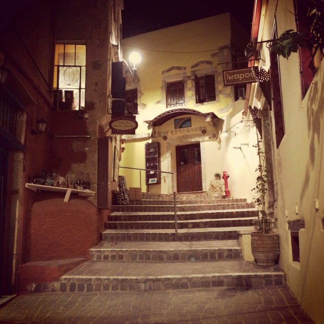 das beste hotel in chania entdeckt und die gassen bei nacht