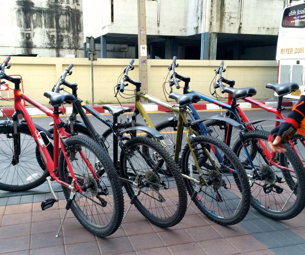 mit dem Fahrrad durch Bangkok die Raeder