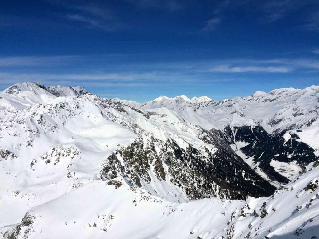 Ausblick Skiurlaub mit Kind Skigebiet Gitschberg Jochtal