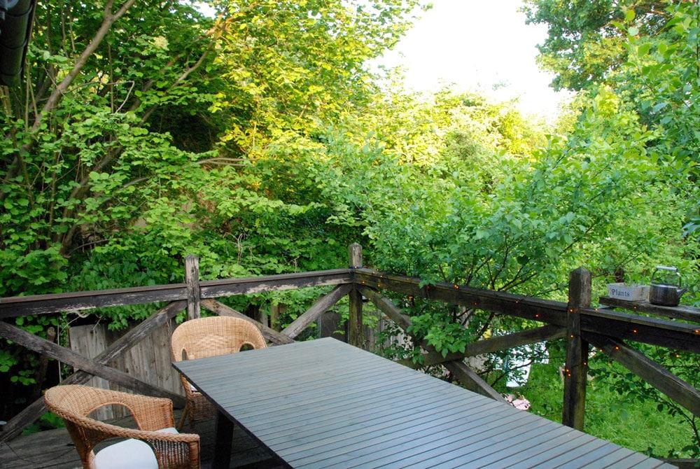Auf der Terrasse. Villa mit Seeblick in Buckow Brandenburg
