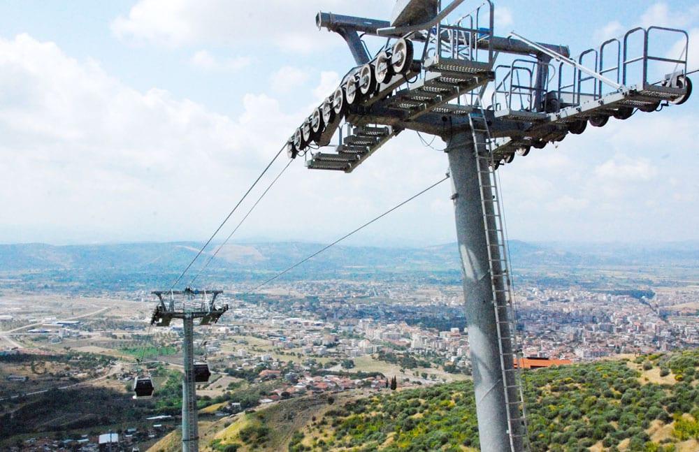 Seilbahn hoch nach Pergamon