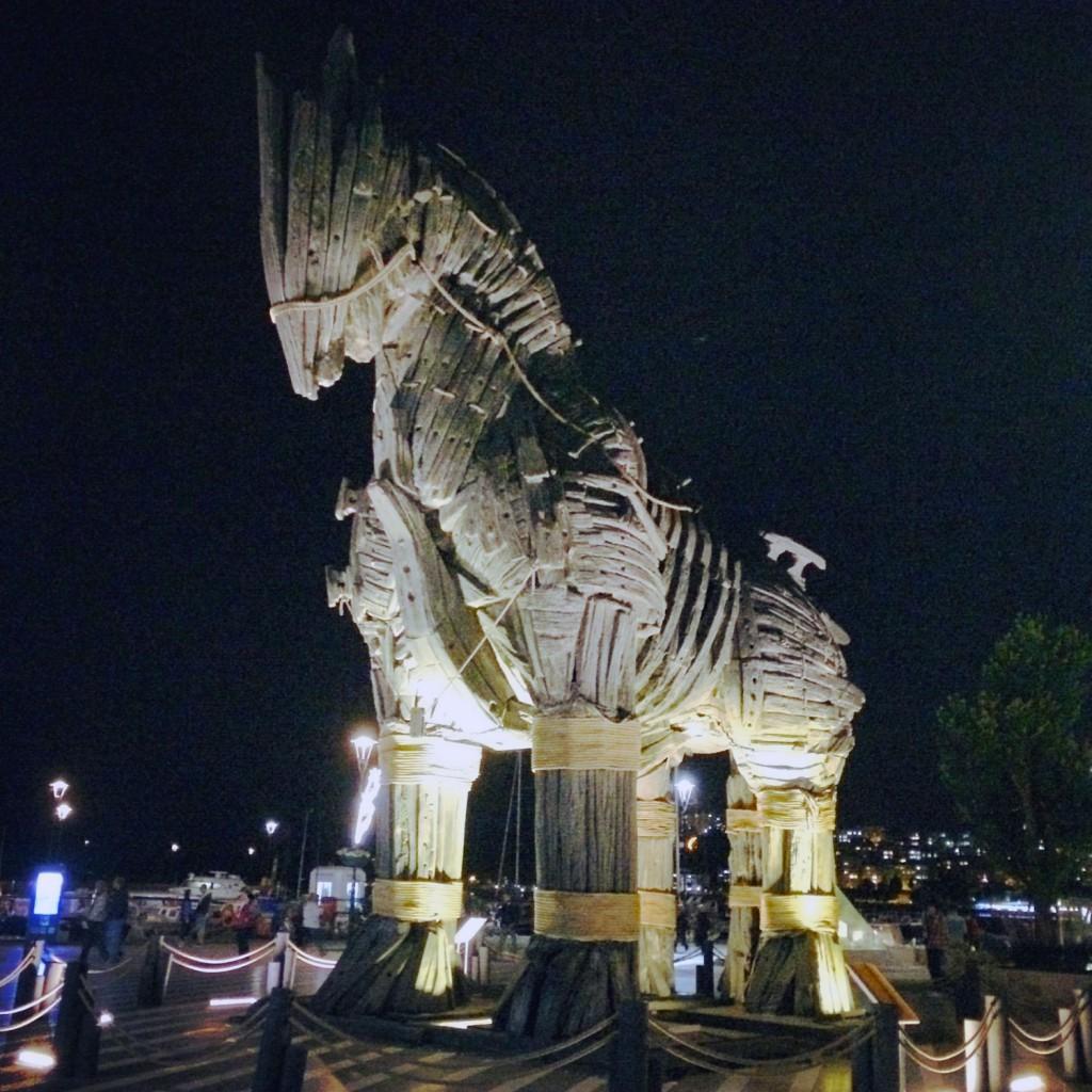 Trojanisches Pferd Filmrequisite
