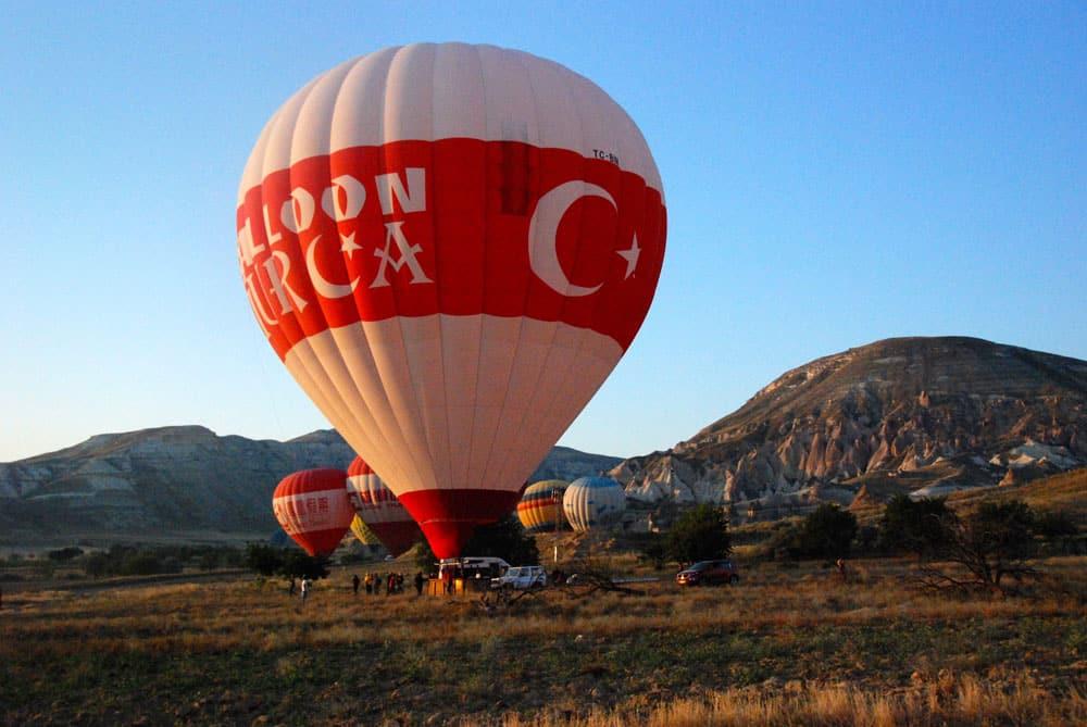 Der Ballon am Boden Kappadokien