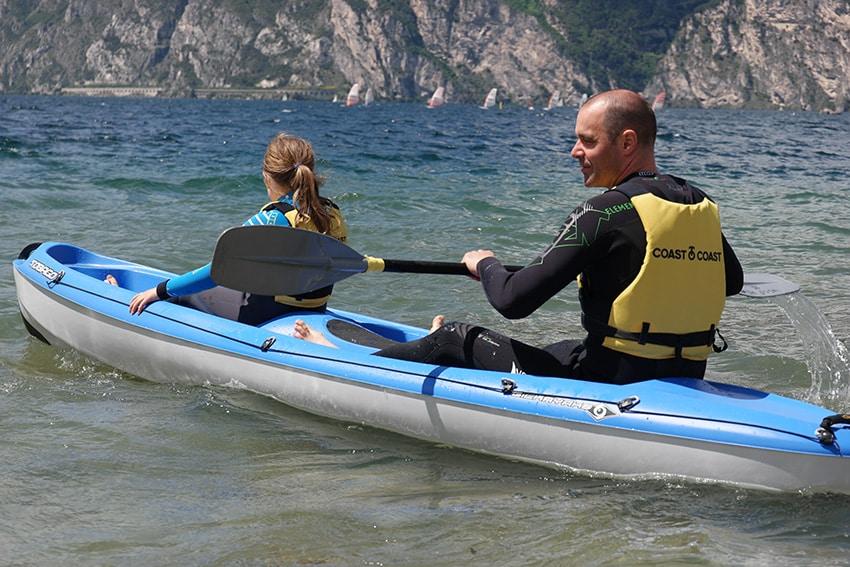 Paddeln mit Kind auf dem nördichen Gardasee