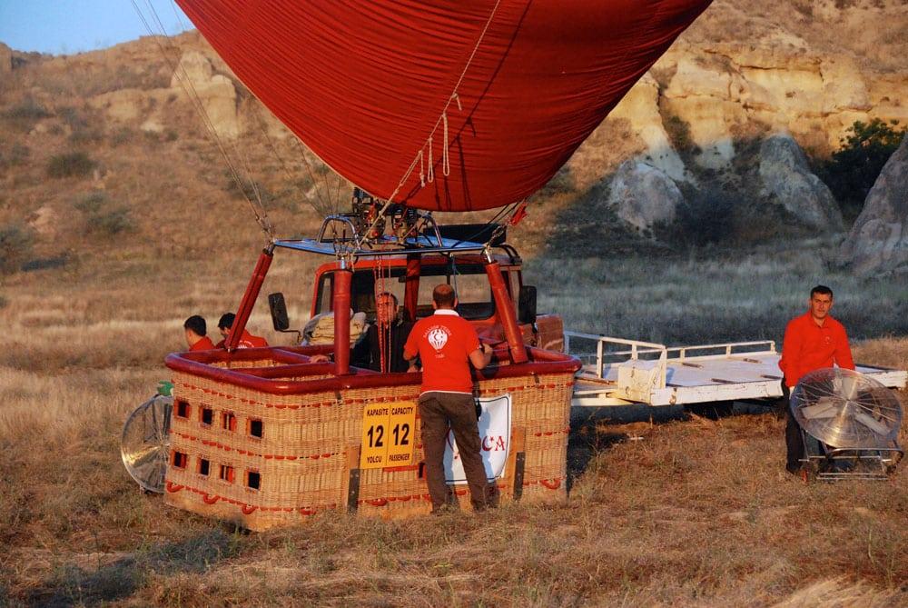 Kurz vor dem Start Ballonfahrt in Kappadokien