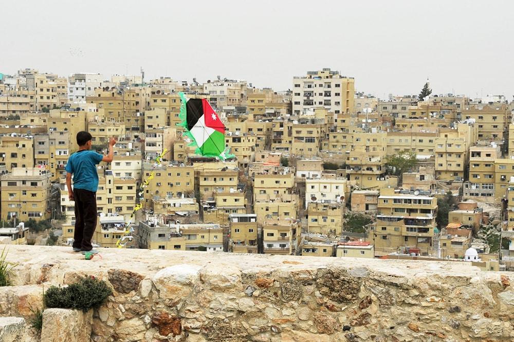 Jordanien-Amman-Häuser-Drachen