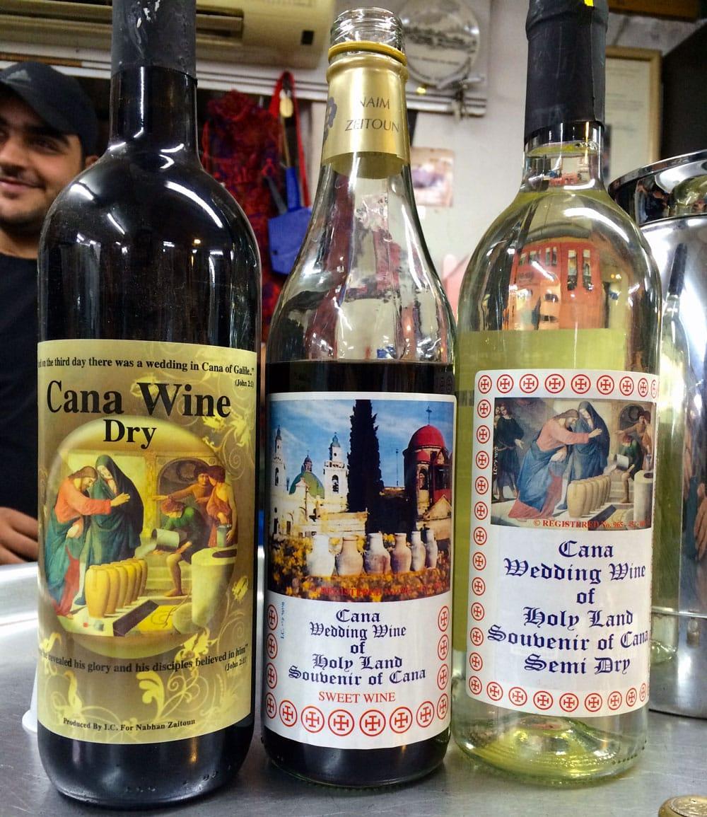spannende Rundreise durch Israel ©looping-magazin Wein Souvenier aus Kanaan