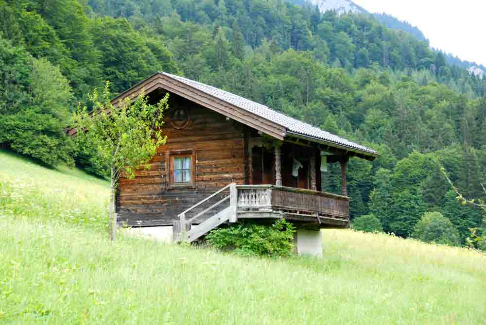 mit Kind auf der Hütte übernachten