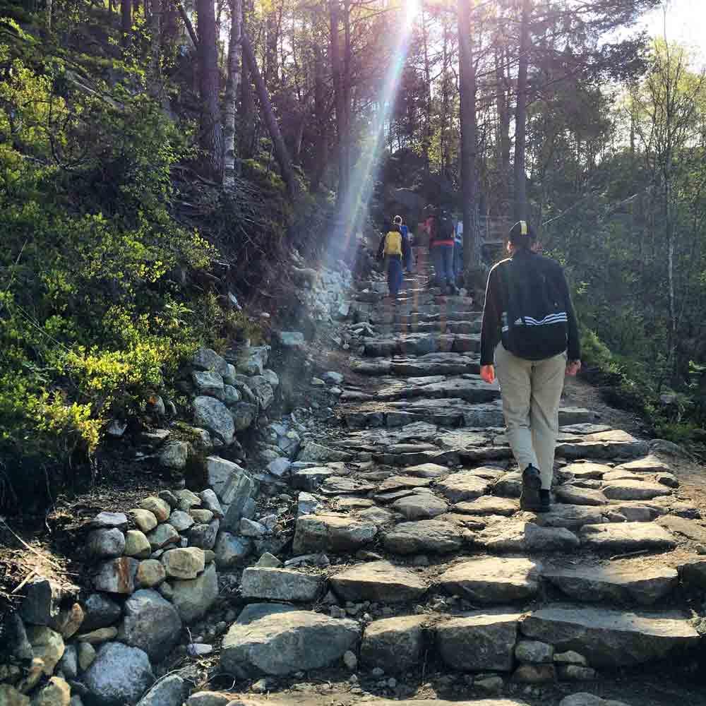 Wanderung auf den Preikestolen