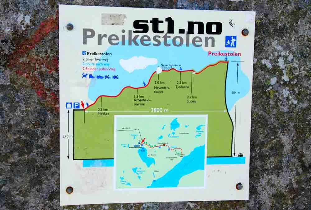 Karte-Aufsteig-Preikestolen