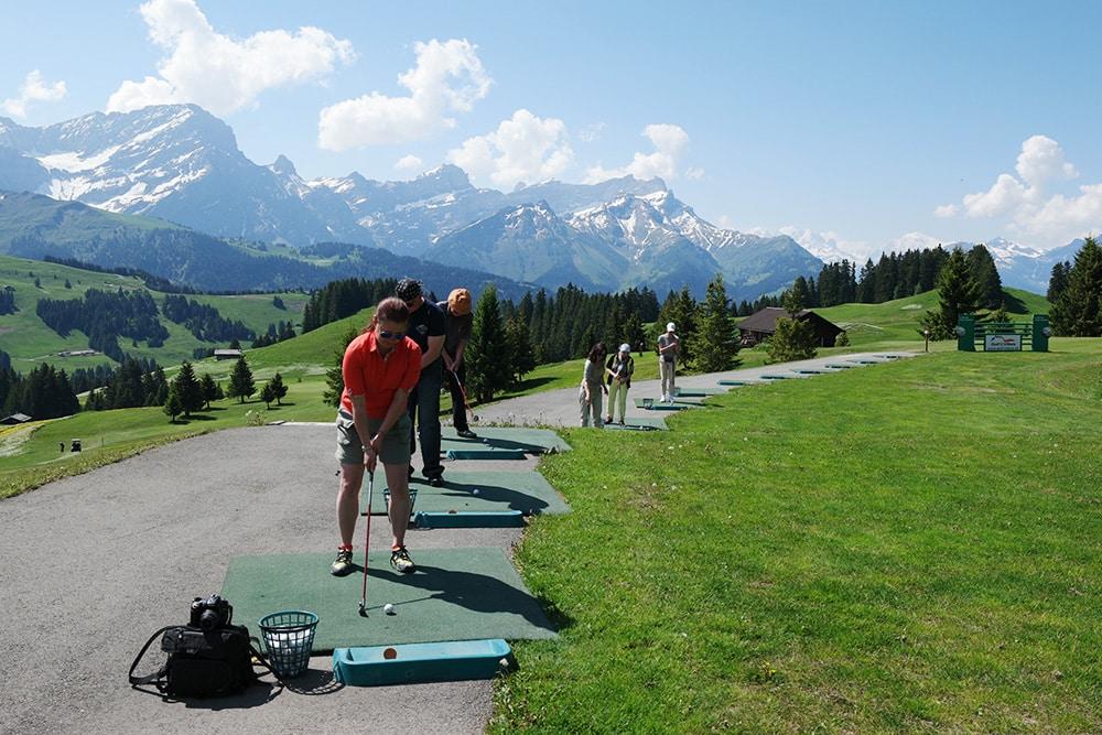 ich will Golf lernen im Genferseegebiet