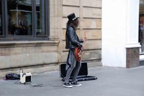 Strassenmusiker-Glasgow