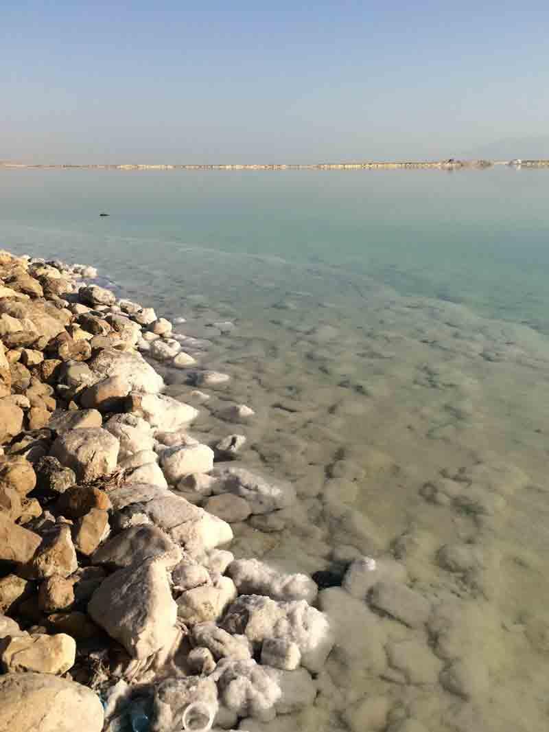 Vom Toten Meer in die Wüste Negev ©looping-magazin am Ufer vom Toten Meer