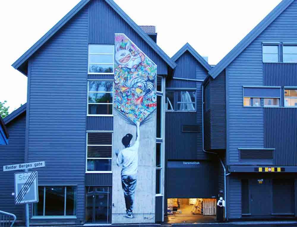 Stavanger-Graffiti-Hauswand