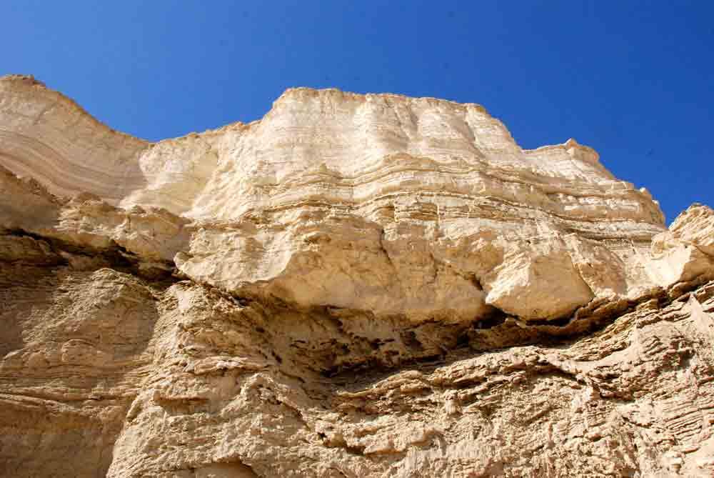 Reisebericht Israel Felswand im Wadi Sodom