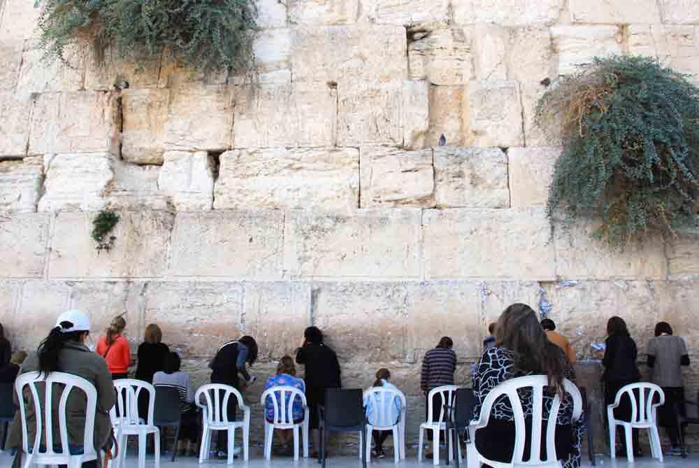 Männer an der Klagemauer in Jerusalem Israel Rundreise