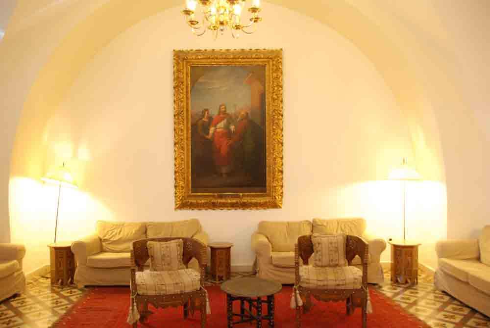 Israel Rundreise in der Lobby österreichisches Hospitz Jerusalem
