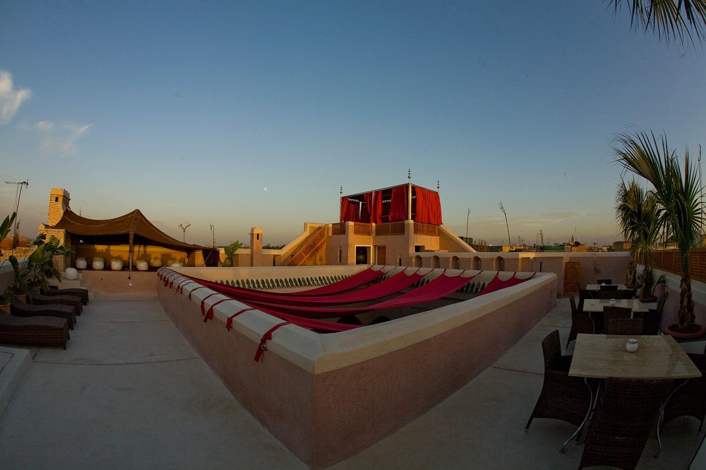 Terrasse by day Riad AnaYela in Marrakesch