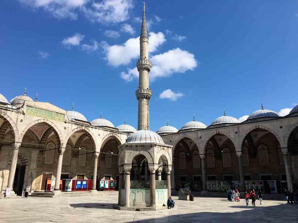 3 Tage Istanbul Reisetipps Innenhof Blaue Moschee