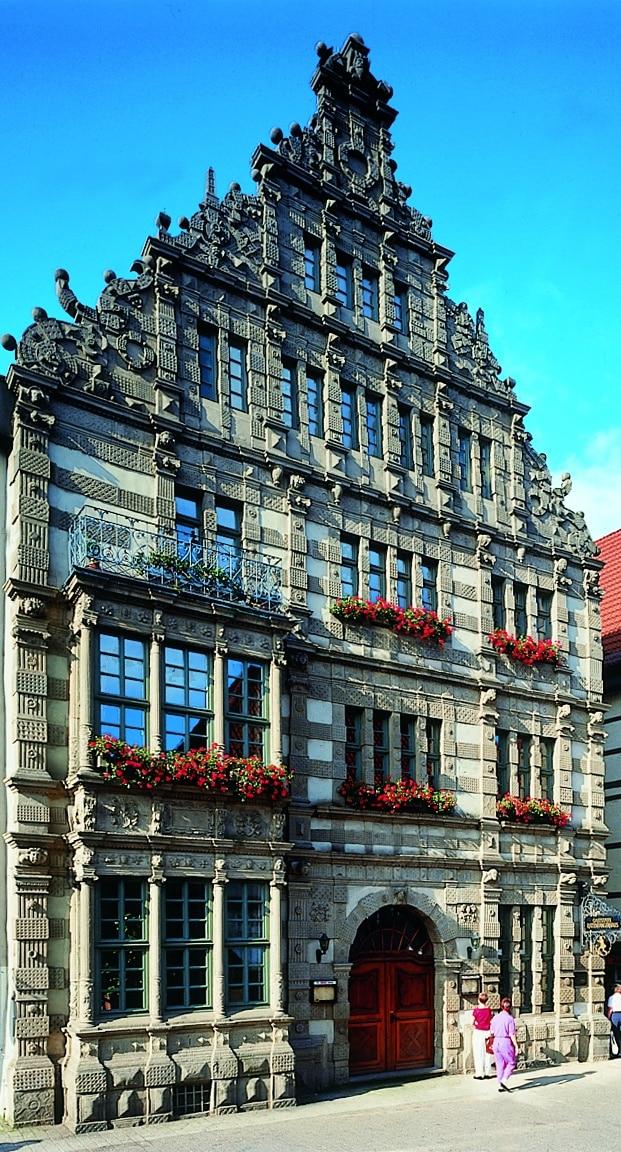 Deutsche Märchenstrasse Rattenfängerhaus in Hameln