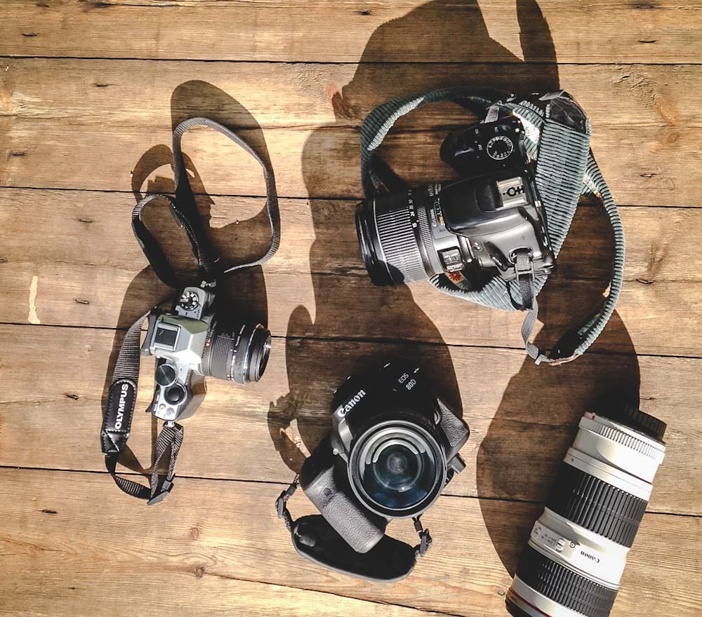 Kameras-blickgewinkelt