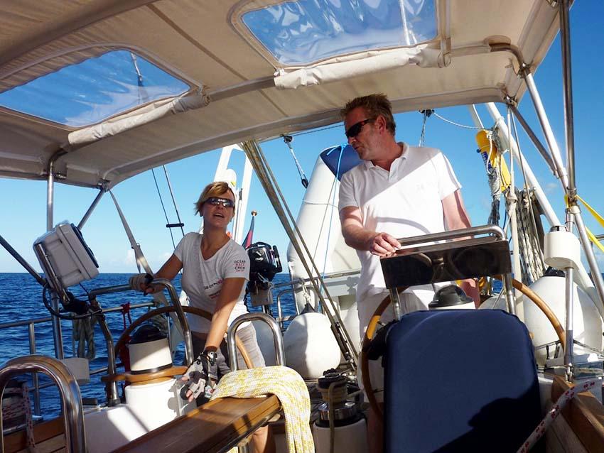 Auszeit auf dem Segelboot