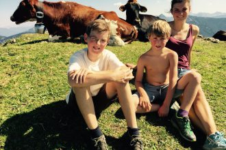 Wandern mit Kindern: auf der Alm