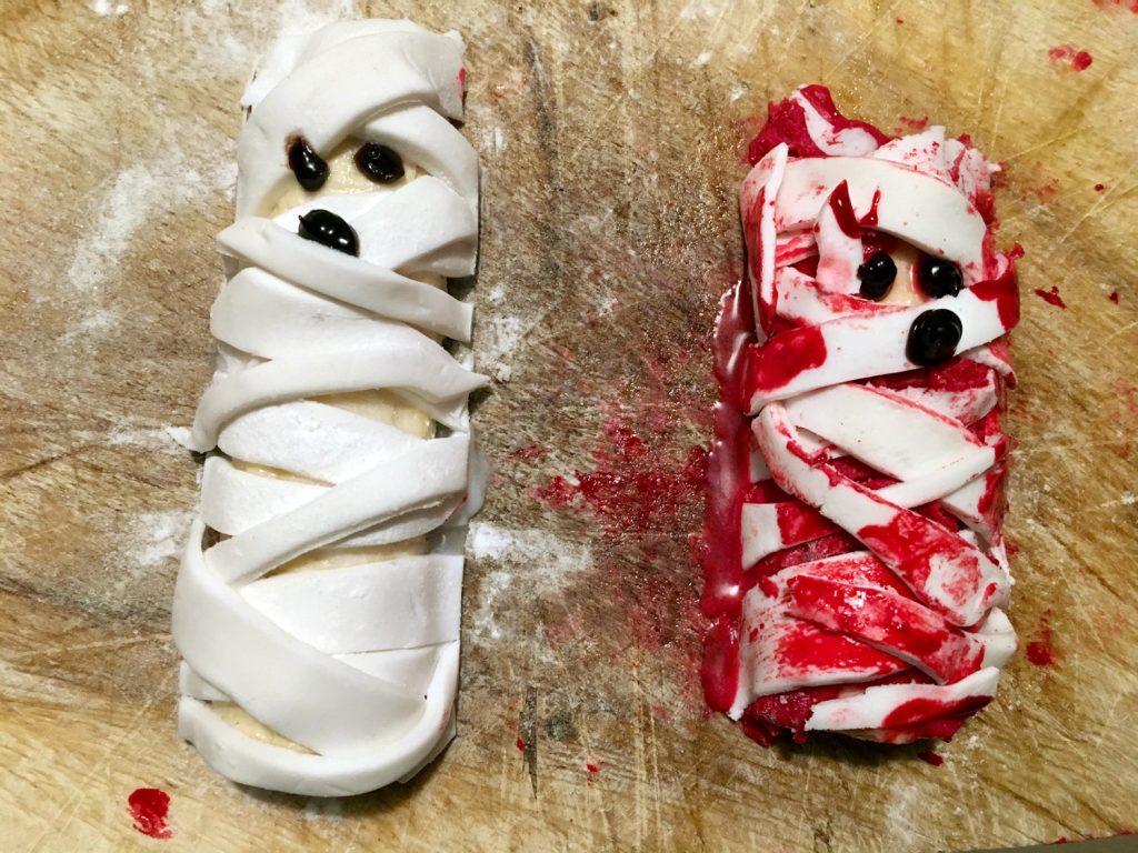 mumienbananen halloween basteln
