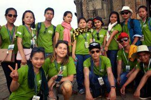 Let's go for Nachhaltigkeit:Ilona von der TUI an der Don Bosco Hotel School in Sihanoukville, Kambodscha