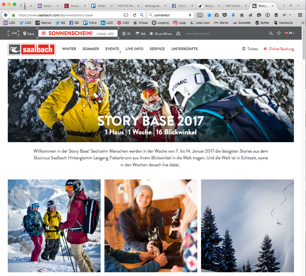 STORY BASE 2017 in Saalbach Hinterglemm