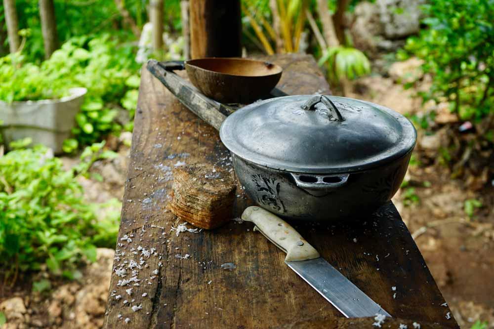 Kochstelle von Fire Rastamann auf Jamaika