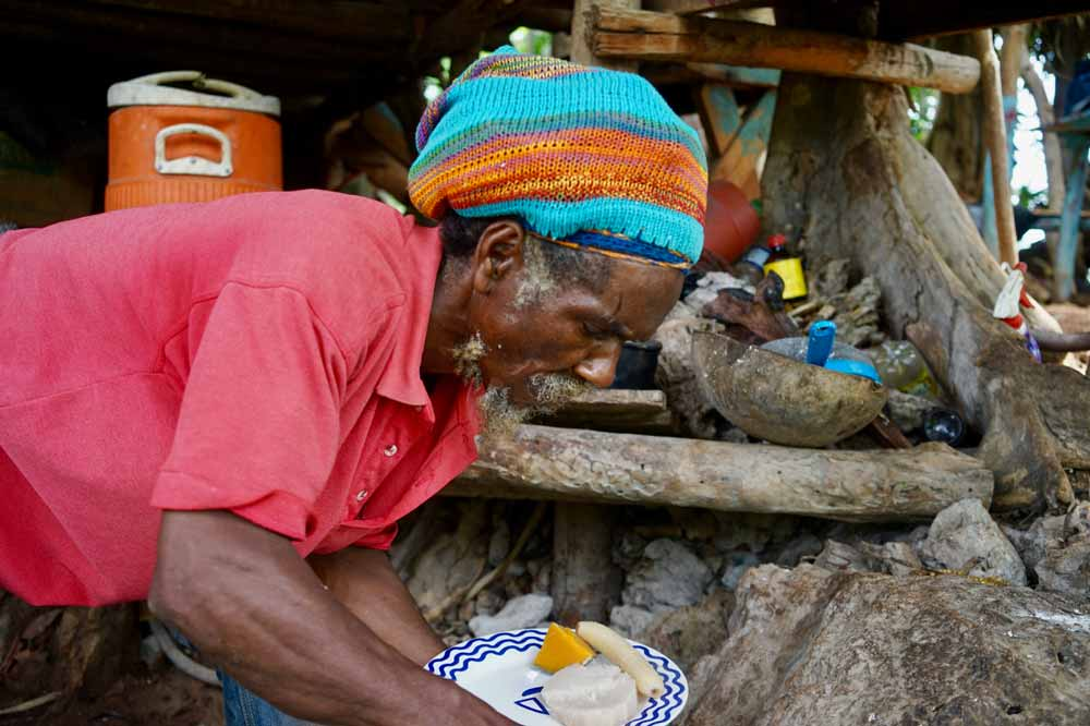 Fire Rastamann auf Jamaika