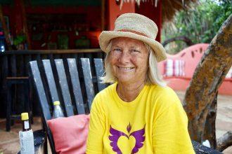 Sallly die Besitzerin von Jakes Hotel auf Jamaika