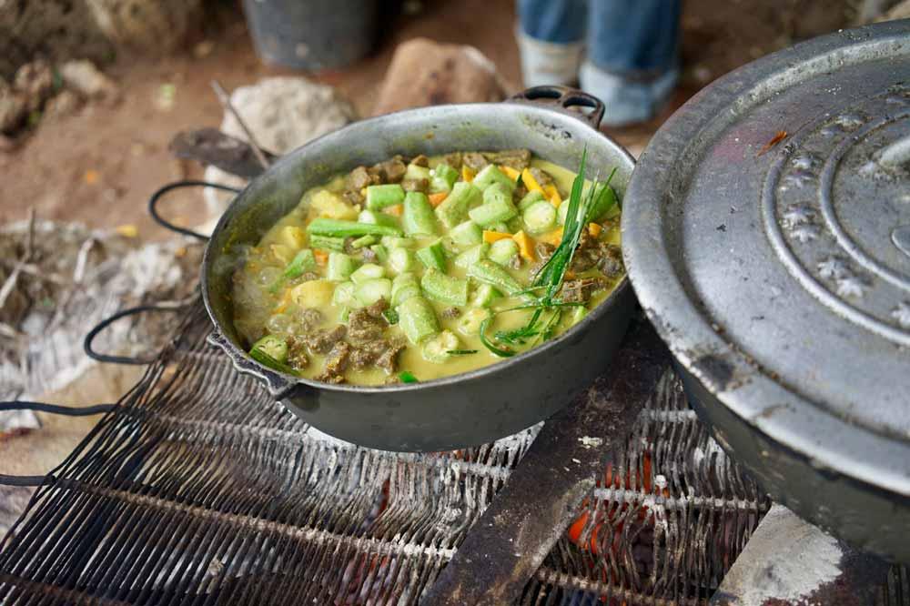 vegetarisches Essen auf Jamaika