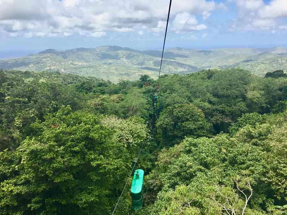 Saint Lucia Ausflugstipps mit der Seilbahn hinauf zum Ziplining