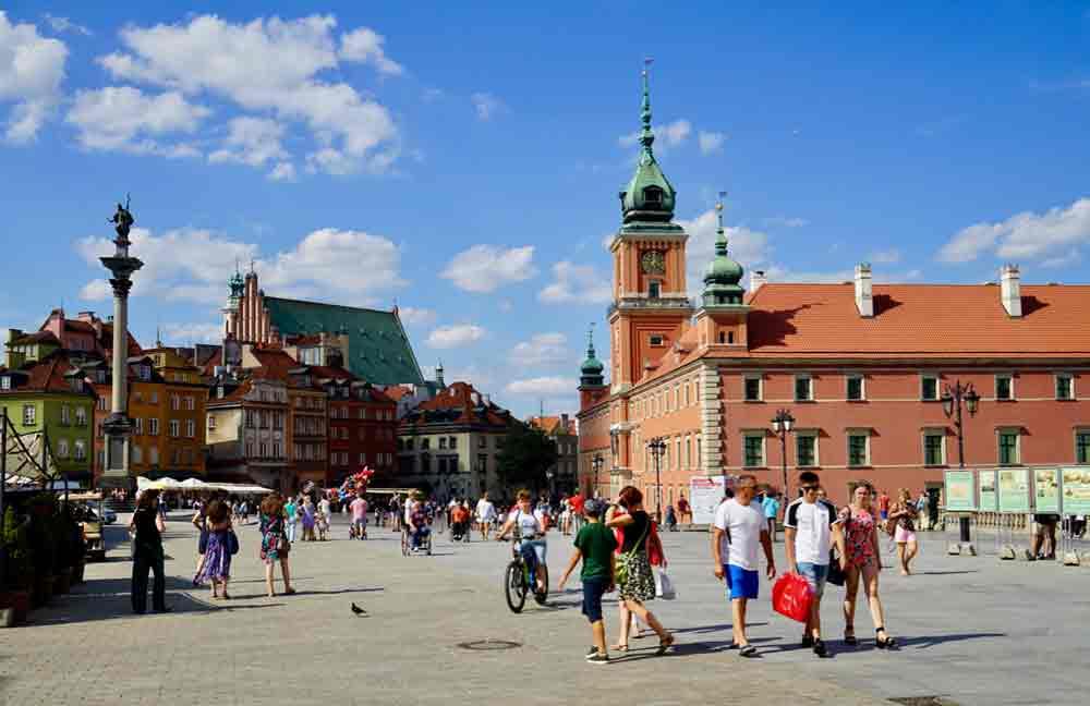 Warschau Schlossplatz Altstadt
