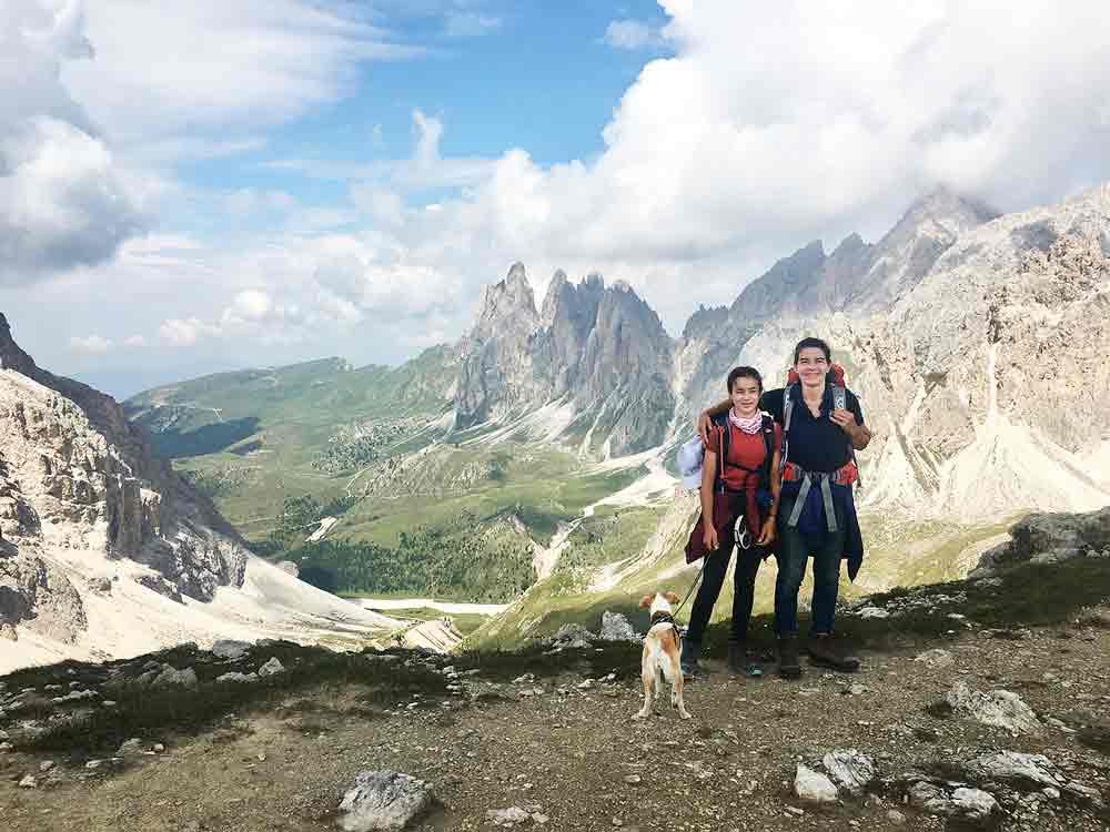 Forces de Sieles Scharte Hochtour in den Dolomiten