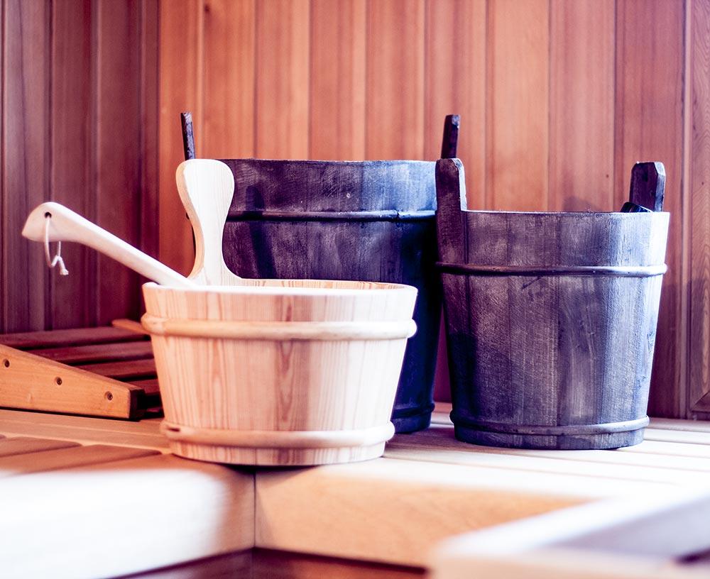 Saunabottich im Ferienhaus KitzLein
