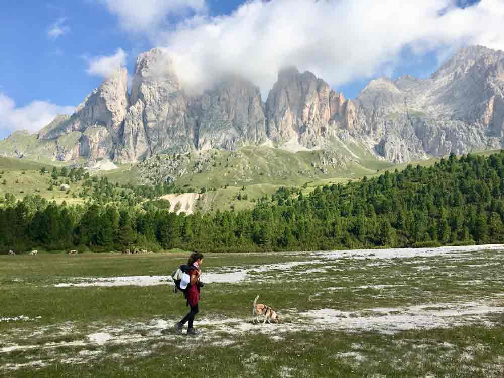 wandern mit Kind und Hund in den Dolomiten