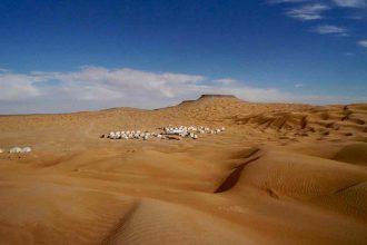 Reise in die Wüste von Tunesien
