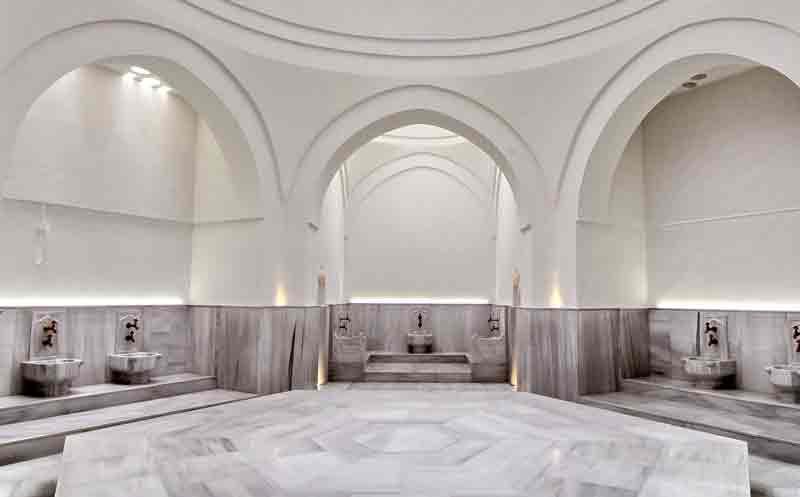 Hamam marmorstein in der Mitte