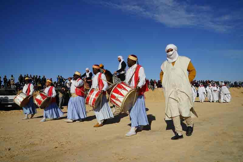 Sahara Festival Douz Musikgruppe
