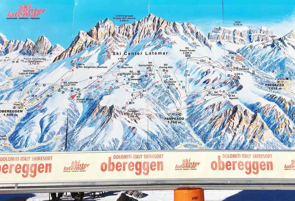 skigebiet obereggen pistenplan